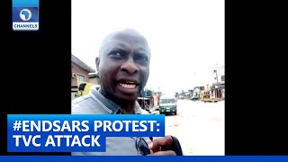 TVC Attack: Channels TV's Ayo Makinde Gives Update From Ketu, Lagos