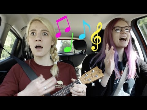 Playing ukulele on a 12 hour road trip!