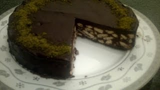 How To Make A Chocolate Biscuit Cake. Easy And Fast!! No-bake!!