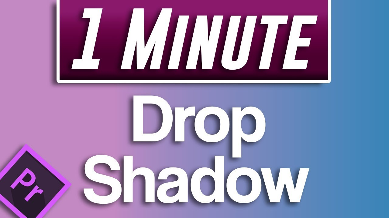 Premiere Pro Cc How To Add A Drop Shadow To Text And Images