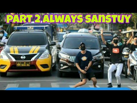 JOGET SANTUY DI LAMPU MERAH PART 2 || PRANK INDONESIA