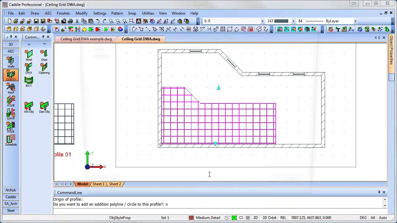 Creating A Suspended Ceiling Grid Layout Using A DWA In