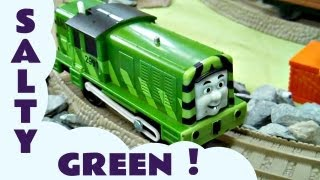 Trackmaster Green Salty Kids Thomas The Tank Engine Toy Train Set Thomas The tank Engine