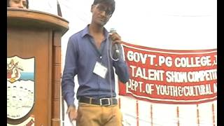 Loli Pop Dance (ghanshyam goyal) & Singing in Govt. College Jind (talent show).