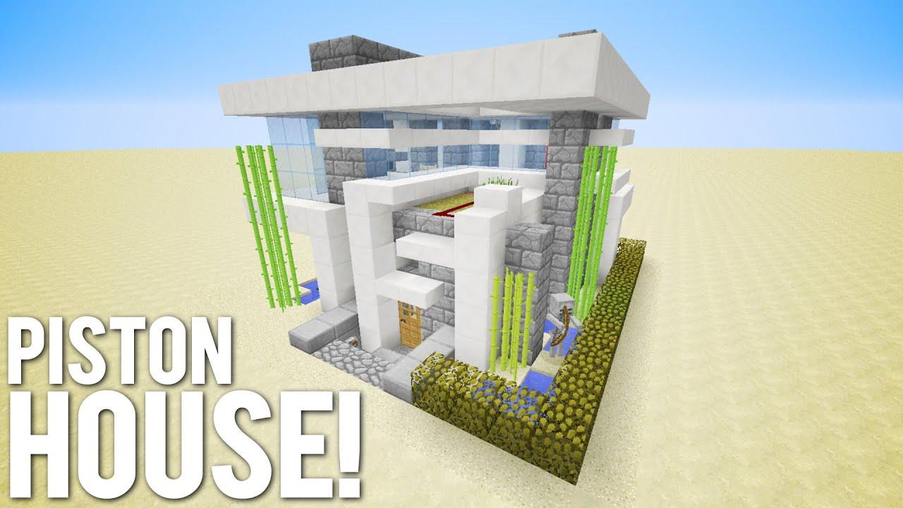 Minecraft: 15x15 Piston House - YouTube