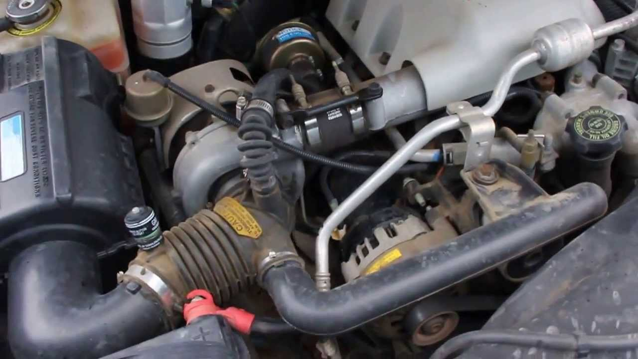 1997 Gmc 2500 6 5l Turbo Diesel Engine Running Youtube
