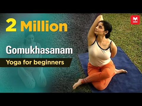 Gomukhasanam | Yoga for beginners by Yamini Sharma | Health Benefits | Manorama Online