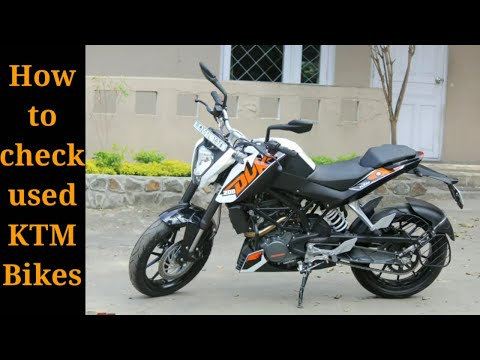 How to check used KTM bikes
