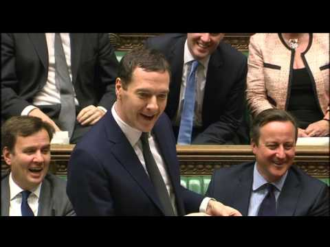 George Osborne reacts to John McDonnell reading from Mao's Red Book