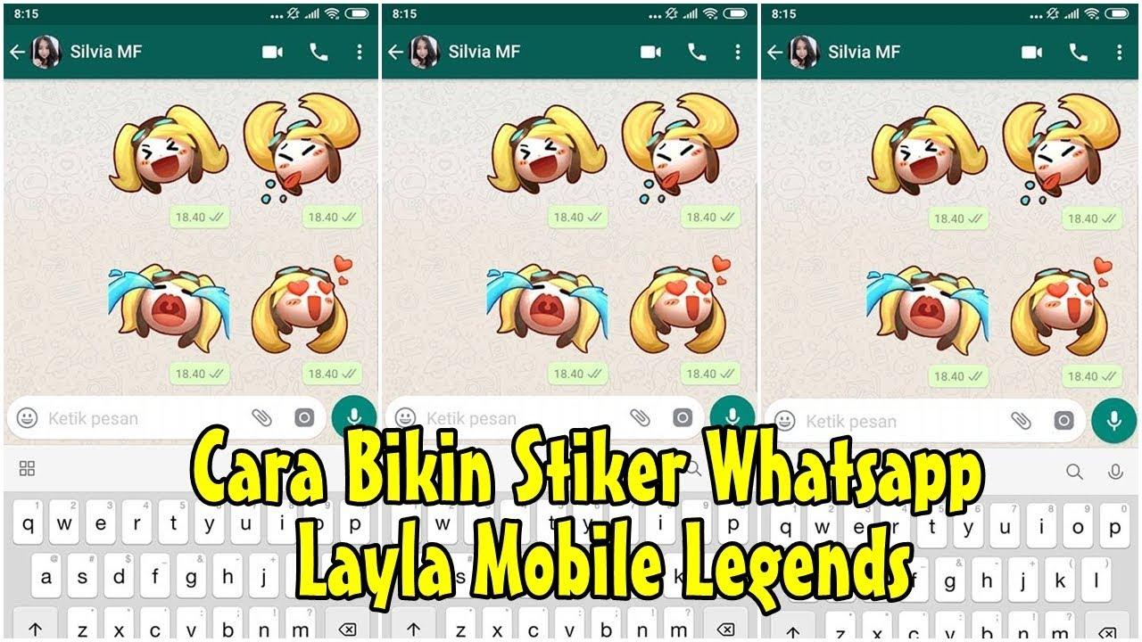 Cara Membuat Stiker Whatsapp Mobile Legends Youtube