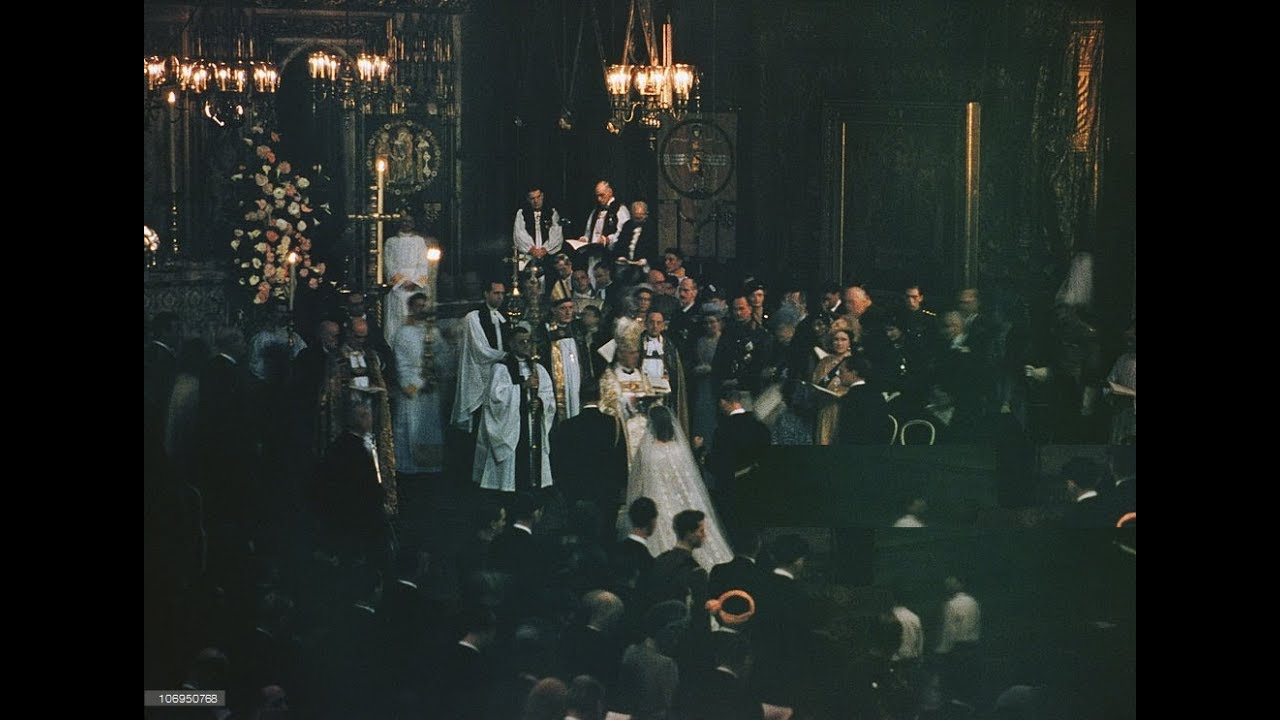 The Royal Wedding Ceremony Of Queen Elizabeth Ii And Prince Philip 1947 Youtube