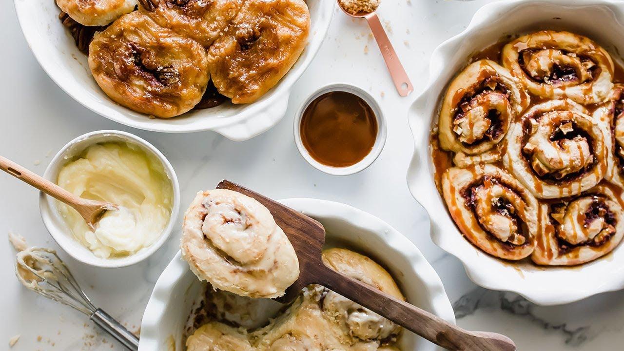 3 EASY Cinnamon Roll Recipes | Homemade
