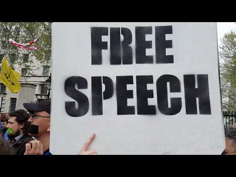 March for Free Speech at Downing Street.