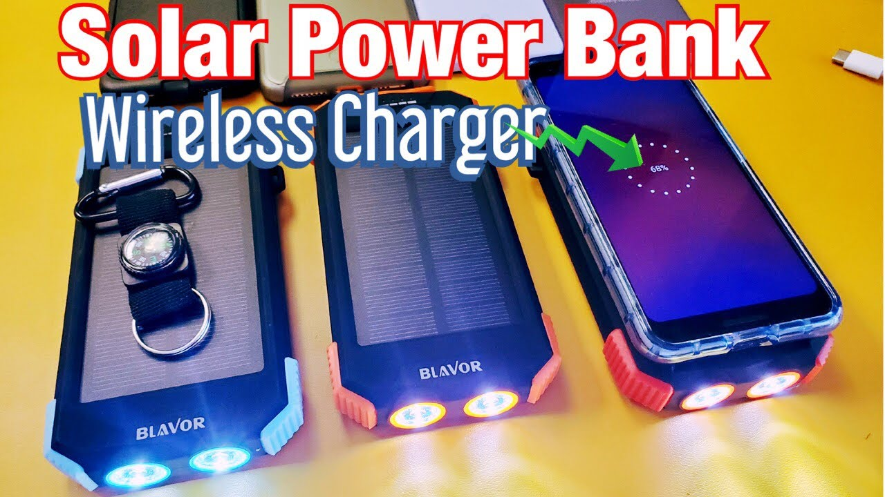 SOLAR POWER BANK 10,000mAH & WIRELESS CHARGER - PROS & CONS - YouTube