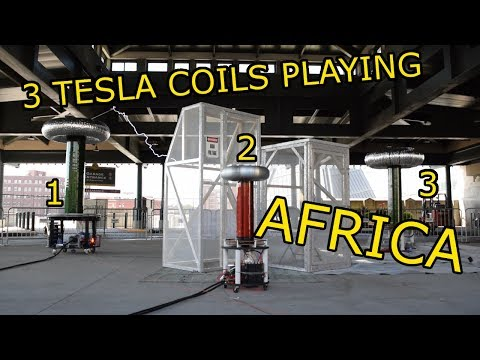 "Africa ""Toto"" Played On Three Tesla Coils (Interesting and Nerdy)"