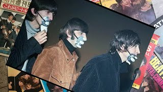 ♫ The Beatles with smog masks on before playing at Ardwick Theatre, Manchester 1965 /photos