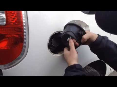 Как снять лючок бензобака для подбора краски ?