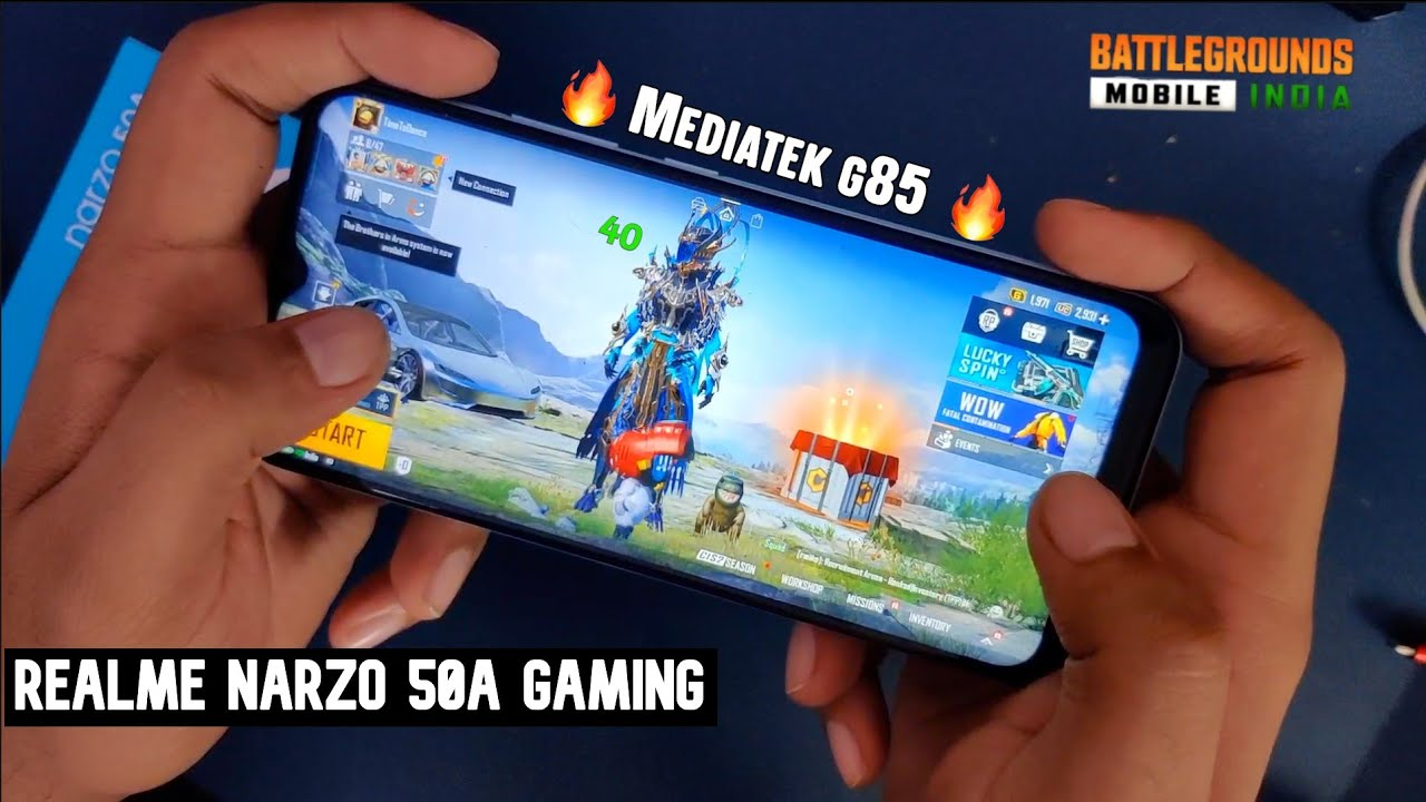 Realme Narzo 50A BGMI Gaming Test with FPS & Heating | PUBG Mobile Gameplay Hindi