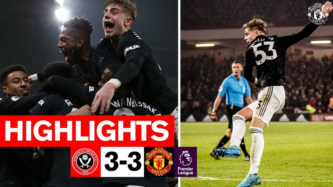 Highlights Sheffield United 3 3 Manchester United Premier League 2019 20 Youtube