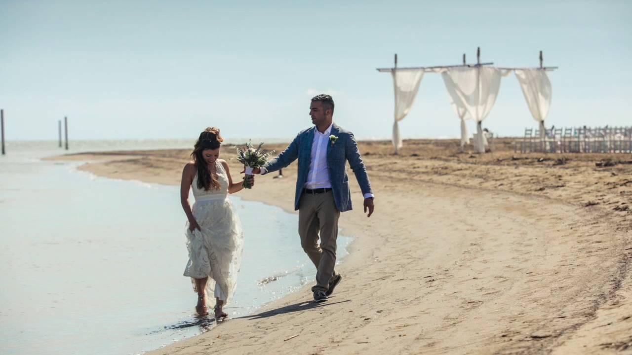 Matrimonio Spiaggia Bibione : Matrimonio al mare bibione youtube