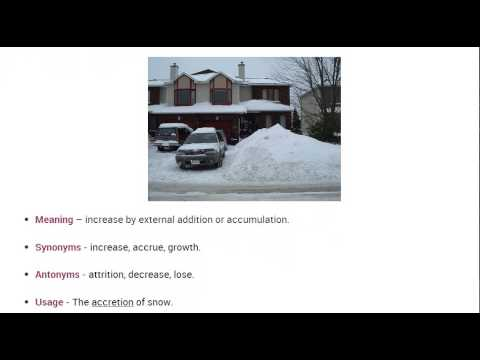 Vocabulary Made Easy Meaning of Accretion Synonyms Antonyms and its Usage  YouTube