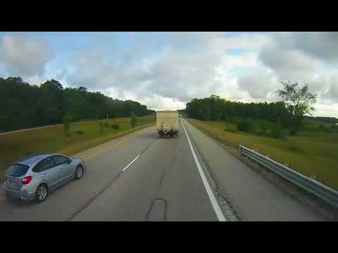 Driving on Interstate 75 in Northern Michigan from Gaylord to Mackinaw City