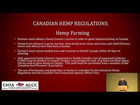 Ted Haney, 2020 Canadian Perspective on Industrial Hemp