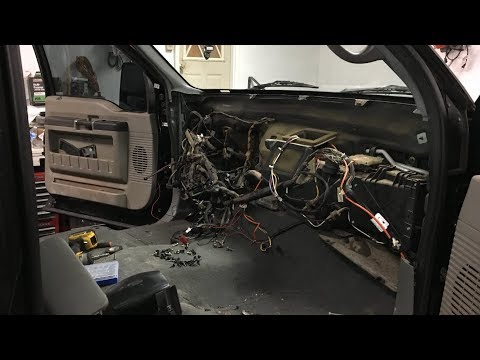 Super Duty Dash Swap Part 1: Removing My Old Dash