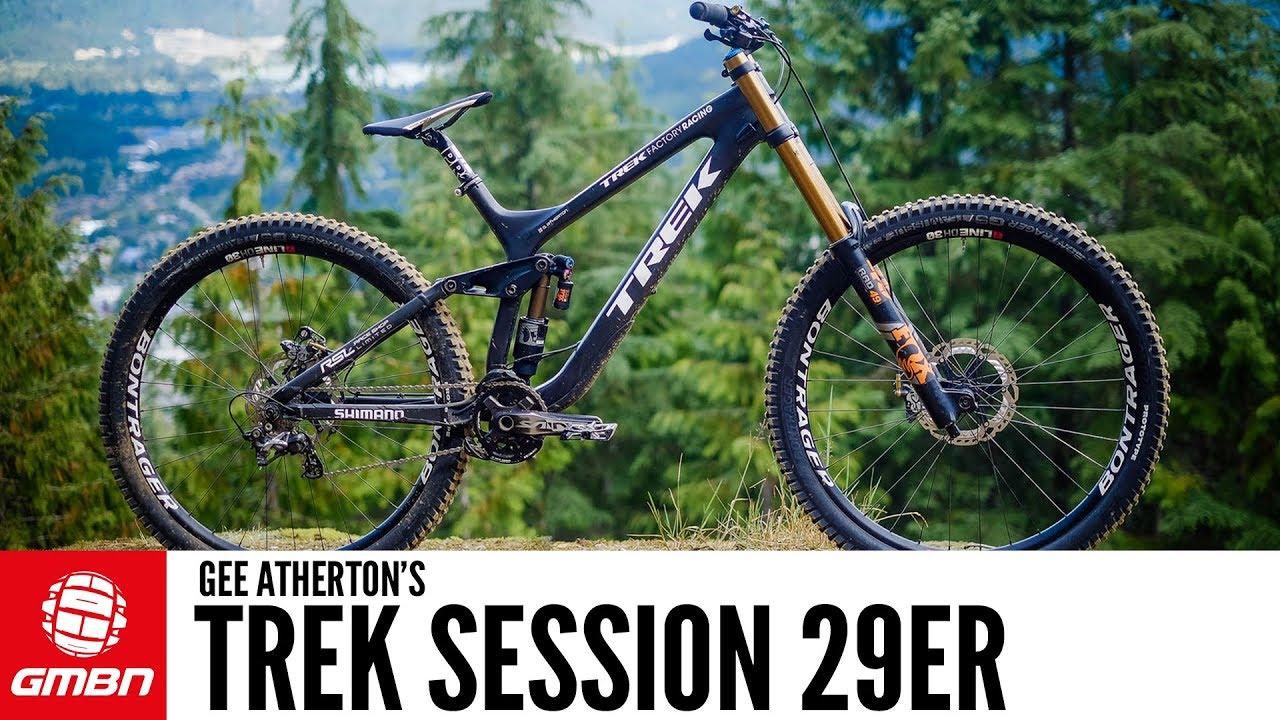 e8e48bd7983 Gee Atherton's Trek Session 29er | GMBN Pro Bikes - YouTube