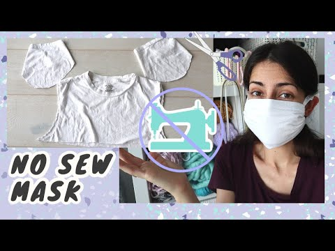 I Made A No Sew Mask From T-Shirt Sleeves \ Easy, With A Filter Pocket