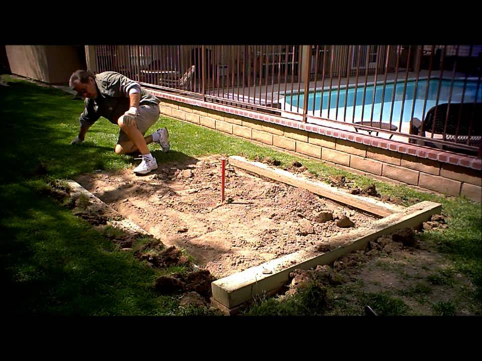 Preparing The Backyard Horseshoe Pits For Some Summer Fun