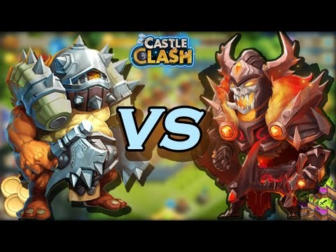 Savage Ogres Vs Skull Knight!! Troops Or Hero For The Win?- CASTLE CLASH