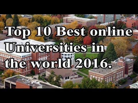 Top 10 Best Online Universities in the World 2016