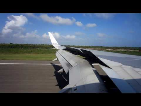 Landing in Santo Domingo in a 757
