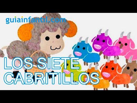 Los siete cabritillos. Cuentos cortos para niños - YouTube