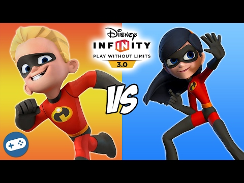 Dash VS Violet Disney Infinity 3.0 The Incredibles Toy Box Fight
