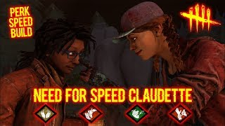 Need For Speed Claudette - Survivor Gameplay - Dead By Daylight