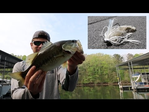 Catching Bass With WHITE Jigs?!?
