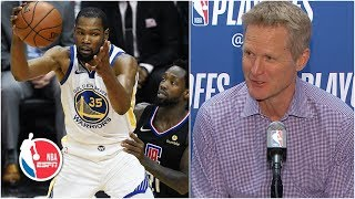 KD 'showed everyone who Kevin Durant is' - Steve Kerr | 2019 NBA Playoffs