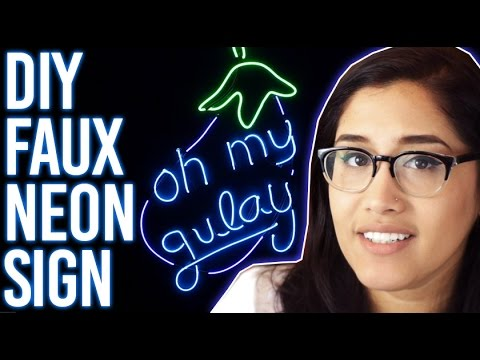 How To Make Faux Neon Sign : Oh My Gulay DIY