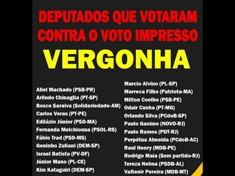 Deputados Que Votaram Contra O Voto Audi Tavel                                            olhocerto