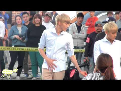 131013 - KRIS @ Let's Go Dream Team Recording - Dancing GROWL
