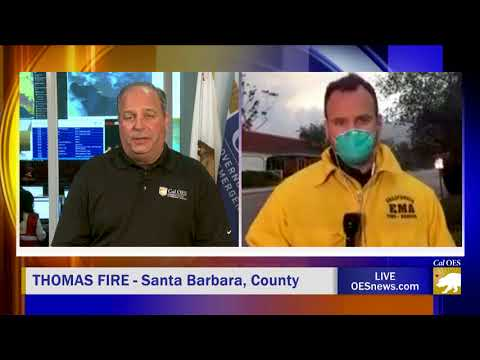 LIVE Report from Evacuated Santa Barbara County Due to Thomas Fire