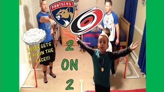 KNEE HOCKEY 2 ON 2 WITH UNCLE JOHN AND PIE FACE TO THE LOSERS