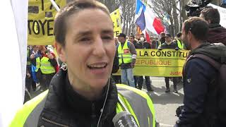 Gilets jaunes : manifestation déclarée, peu de tensions (23 mars 2019, Paris)