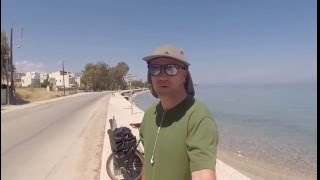 Cycling From Greece To England Vlog Day 3 - Coastal Ride To Akrata Beach