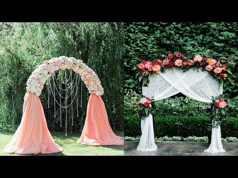 DIY Wooden Arch  Perfect For Wedding | DIY Wedding Arch | DIY Floral & Crystal Wedding Arch
