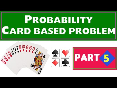 Probability Problems CARD based Part 5 for SBI , IBPS , Railway , State Govt exams