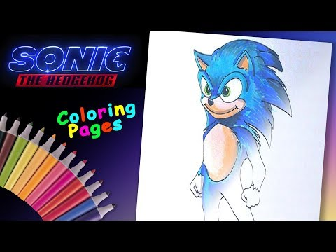 Sonic The Hedgehog Movie Coloring Page Forkids Drawing