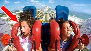 Kids Passing Out | Funny Slingshot Ride Compilation